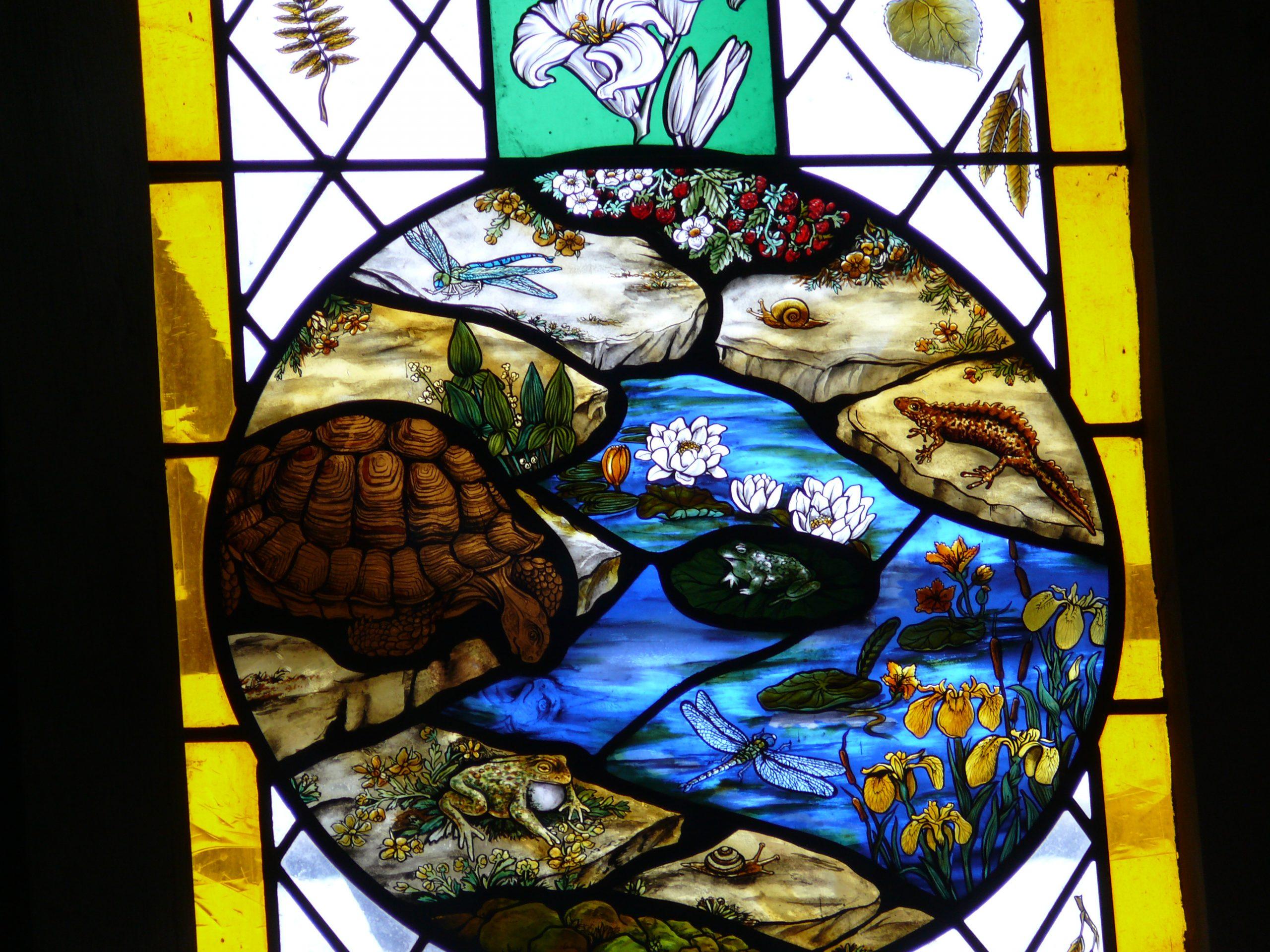 Selborne church commemorative window gilbert white